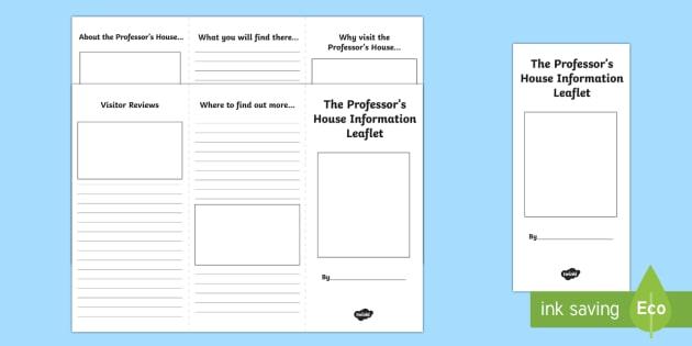 leaflet writing frame - Pinarkubkireklamowe