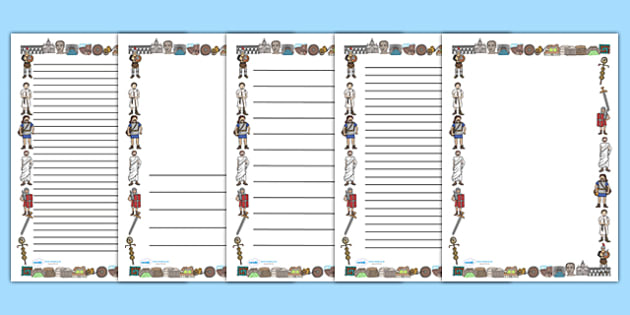 Ancient Romans Page Borders (A4) - Romans, Rome, Roman Empire - printable writing paper with border