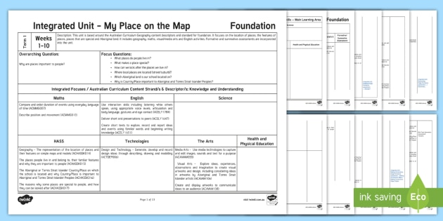 NEW * My Place on the Map Integrated Unit Plan Template - Inquiry Unit