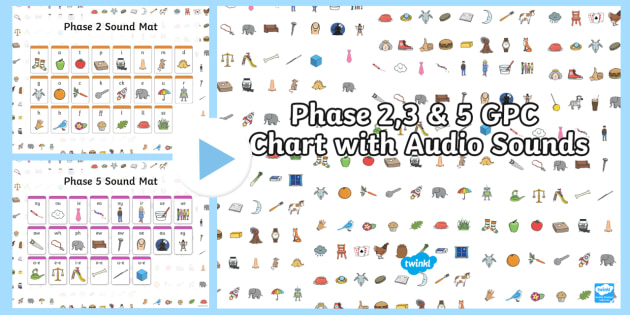 Phase 2, 3 and 5 GPC Chart with Audio Sounds PowerPoint