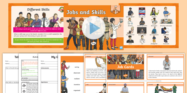 NEW * PSHE and Citizenship - Y3 Aiming High - Lesson 4 Jobs and Skills