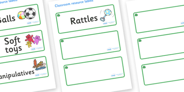 Jade Themed Editable Additional Resource Labels - Themed Label template