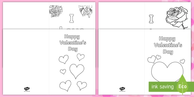 Valentine\u0027s Day Card Colouring Templates - Valentine\u0027s Day