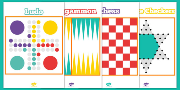 Traditional Game Board Template Pack - printable, game, activity, class