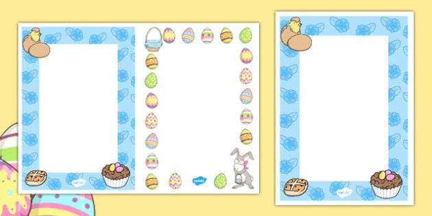 Editable Easter Card Insert Templates
