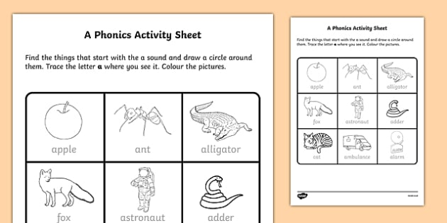 a Phonics Worksheet / Worksheet-Irish, worksheet
