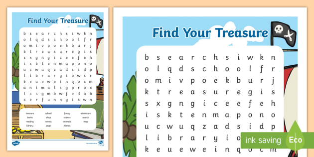 NEW * Book Week 2018 Word Search - CBCA, Find your treasure