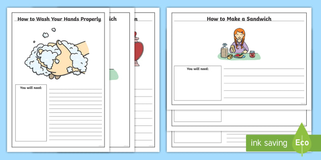 FREE! - Editable Instruction Writing Templates - editable, instruction
