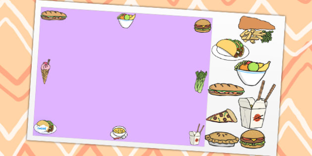 Food Themed Editable PowerPoint Background Template - food