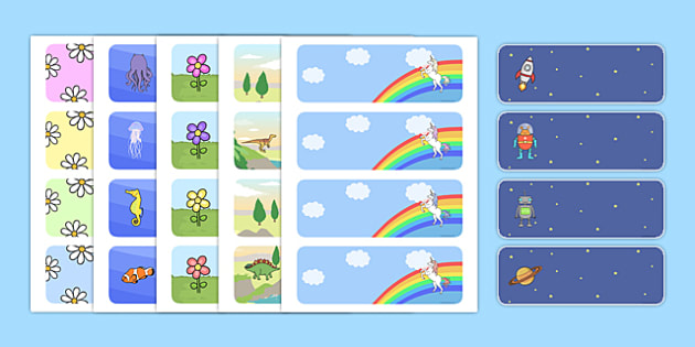 Editable Classroom Label Templates Resource Labels Name