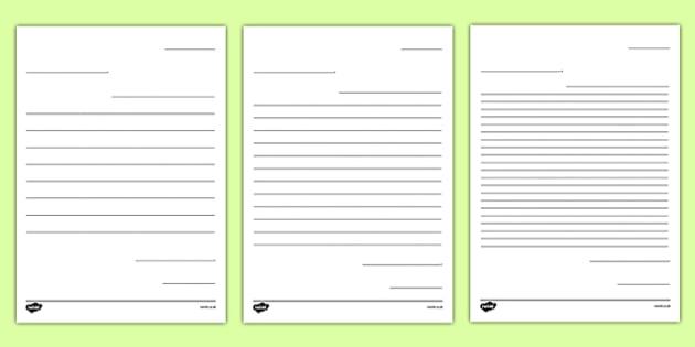 Pen Pal Letter Writing Template - New Teacher Transition