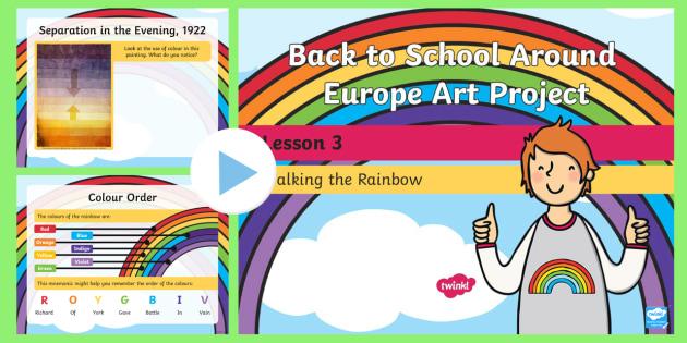 KS1 Back to School Around Europe Art Project Walking the Rainbow