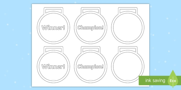 Medal Cut-Outs - Awards, Olympics, Sports, Craft, PE, prize - gold medal templates