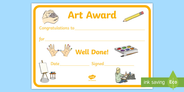 FREE! - Art Award Certificate - Art Award Certificate, Art, Arts