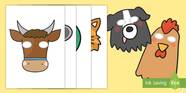 Little Red Hen Role Play Masks - Little Red Hen, role play masks