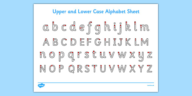 Upper and Lower Case Letters Worksheet / Activity Sheet - ESL
