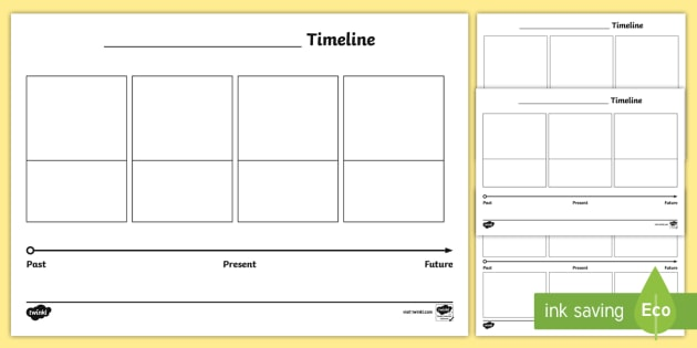 Blank Differentiated Timeline Worksheet / Activity Sheets