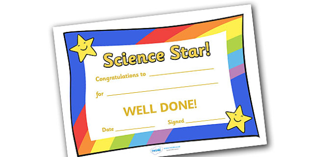 Science Star Award - science star award, science, star