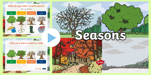 Seasons Video PowerPoint - seasons, seasons powerpoint, seasons videos