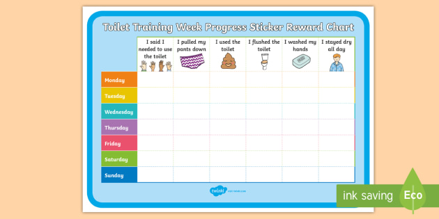 NEW * Toilet Training Week Progress Sticker Reward Chart - potty