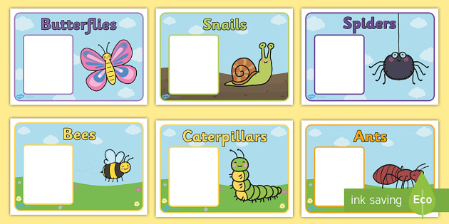 FREE! - Editable Class Group Signs (Minibeasts) - Minibeasts, group