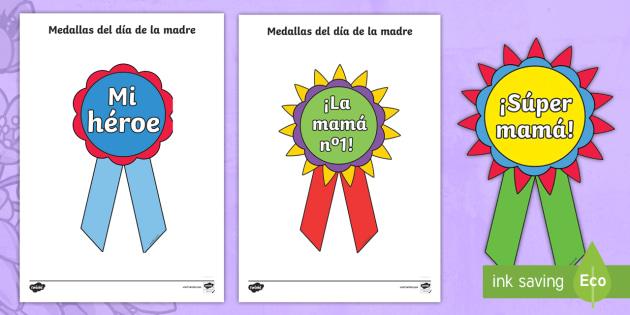 Mother\u0027s Day Printable Badges - Spanish - Spanish, KS2