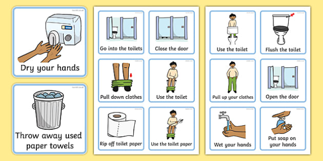 Daily Routine (Using The Toilet - Boys) - how to use the toilet - daily timetable