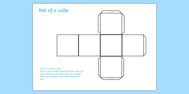 FREE! - Cube Net - cube, shapes, shape net, cube shape net, maths