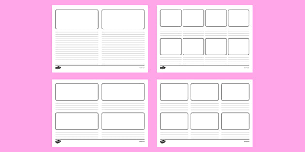 Storyboard Templates - story map template, editable storyboard