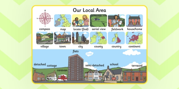 Our Local Area Display Poster A4 Local Area Display