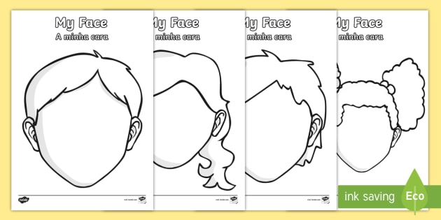 Blank Faces Templates - English/Portuguese - Blank Faces