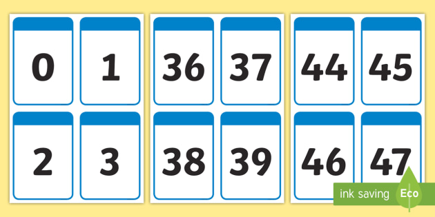 FREE! - Number Digit Cards 0-100 - Numeracy, digit card, math, number