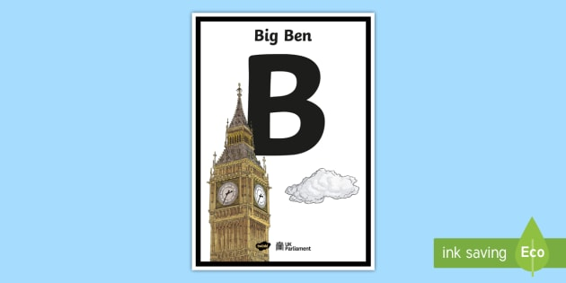 New B In The Abc Of Parliament A4 Display Poster