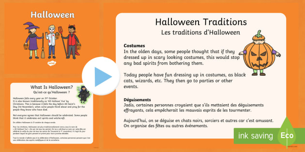 Halloween PowerPoint English/French - halloween, pumpkin, October