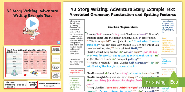 Y3 Story Writing Adventure Model/Example Text - Example Texts Y3