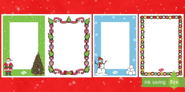 Editable A5 Christmas Card Insert Template - Christmas - template for christmas