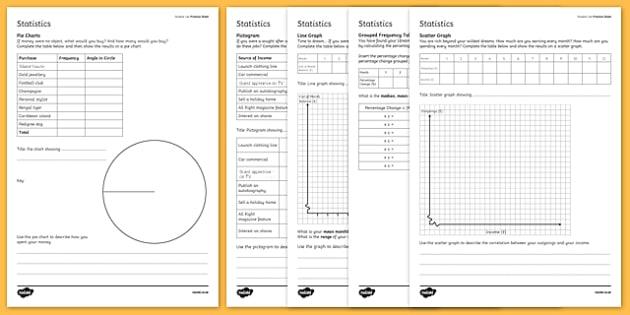 Student Led Practice Statistics Worksheet / Activity Sheet - statistics worksheet