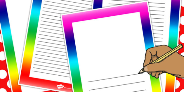 Rainbow Page Borders - rainbow, page, borders, display, border - rainbow page border