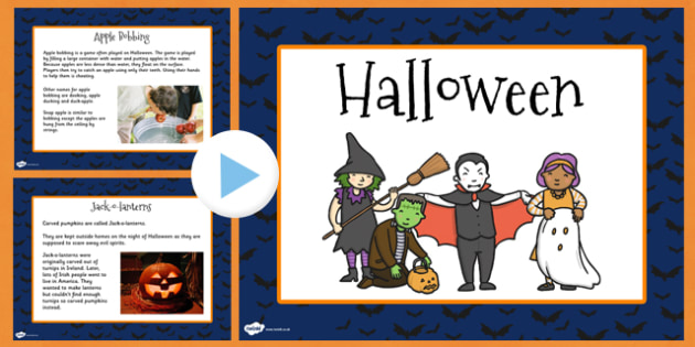 When is Halloween? PowerPoint- halloween, information, info