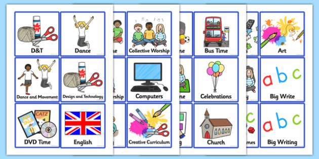 KS1 Daily Routine Cards - Visual Timetable, SEN, Daily - daily timetable
