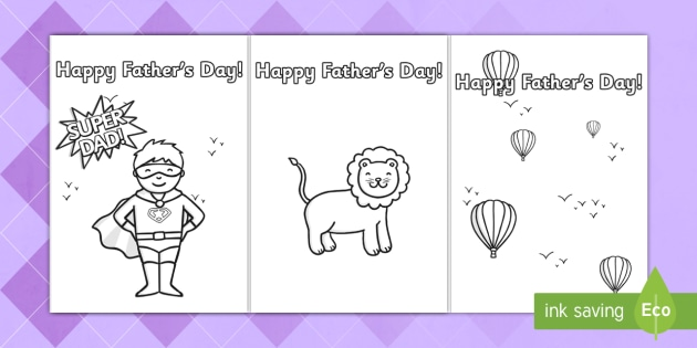 Father\u0027s Day Card Template (Colouring) - Design, father\u0027s day card