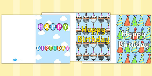 Birthday Card Writing Template - Blank editable card templates - birthday card template