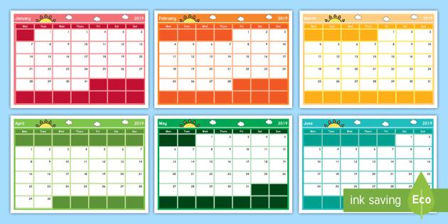 NEW * 2019 Display Calendar - 2019, calendar, 2019 calendar, year