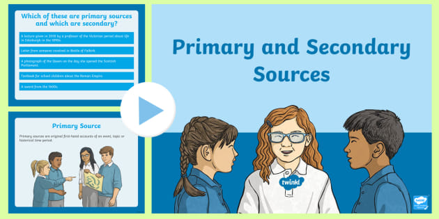 NEW * Primary and Secondary Sources PowerPoint
