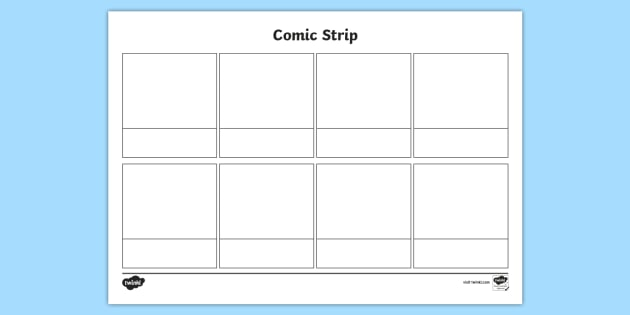 FREE! - * NEW * Blank Comic Strip Template - comic, comic strip