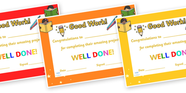 Congratulations For Completing Your Project Certificate - congratulations certificate