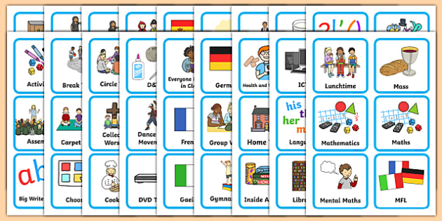 Editable KS1 Visual Timetable - Visual Timetable, SEN, editable