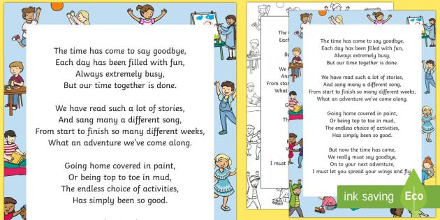 Nursery Teacher Leaving Poem - End of Year, Poetry, Goodbye, Thank you