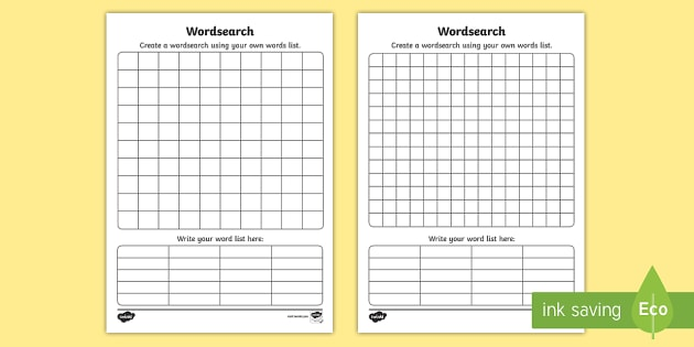 Blank Word Search Sheet - word search, word game, find the word - how to make a sign in sheet in word