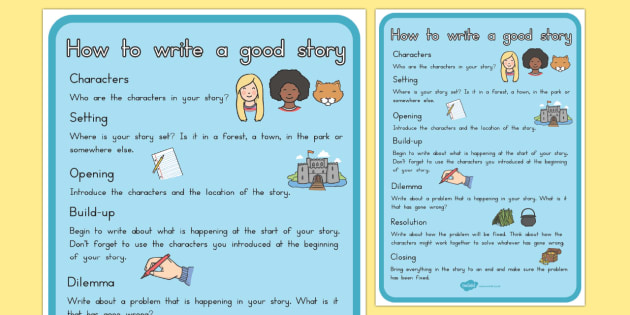 How To Write A Good Story Checklist Writing Stories Story